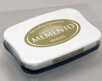 SALE Memento Dye Ink Stamp Pad -- Pistachio -- NEW Color Great for Copic Markers
