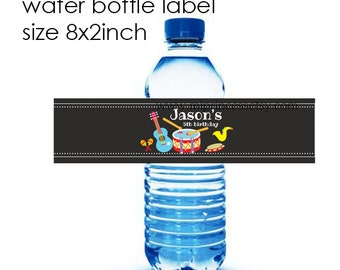 Reserved for someone purchased invitation - ADD ON option, Matching Water Bottle Label, 8x2inch printable