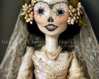 Art Doll Print~Isela, la Calavera Catrina