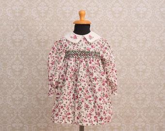 Polly Flinders Smocked Floral Dress