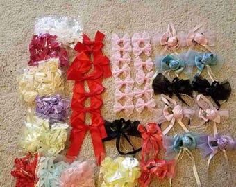 Boundle of artificial flowers hair accessory
