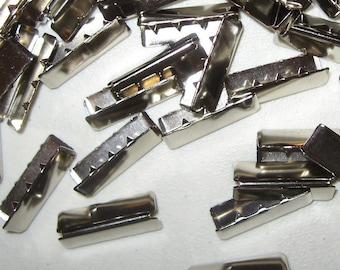 Belt Tips ONE INCH WIDTH Nickel  50 pcs