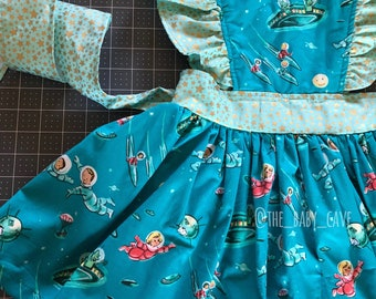 Lost in space pinafore dress
