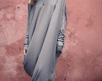 Summer dress / oversized dress / Asymmetrical dress / casual dress / Maternity dress / Plus size clothing / Cotton dress / Romantic dress