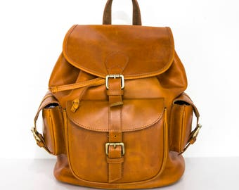 Luxury Brown Leather Work Rucksack