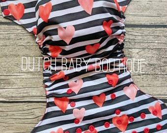 Sweetheart Stripe Cloth Diaper - Made To Order