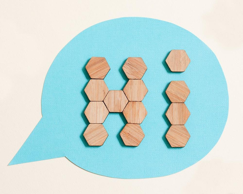 Bamboo Hexagon Fridge Magnets set of 20