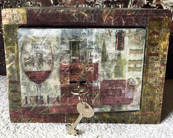 safe has wine (OOAK) vintage keys