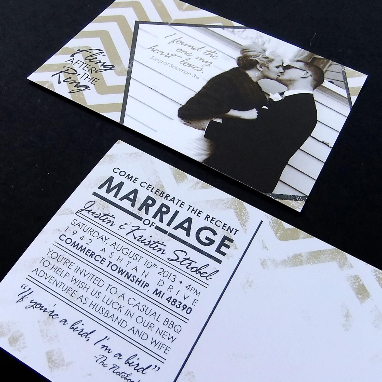 Post Wedding Celebration Invitation Custom Printable PDF