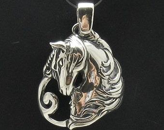 PE000653 Sterling silver pendant   solid 925 Unicorn horse