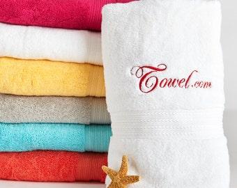 Personalized 3 piece Egyptian Bath Towel Set, Embroidered Bath towel, Hand Towel, Wash Towel, Personalized Towel Set, 100% Egyptian cotton