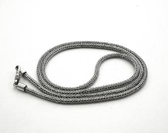 Balinese Silver Woven Necklace