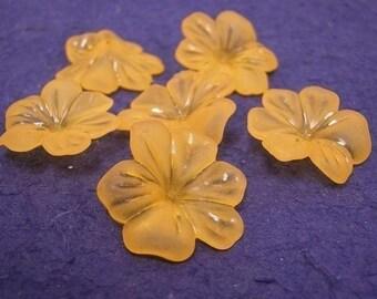 10pc large acrylic flower bead-1218-ORANGE