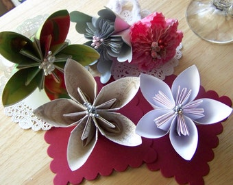Wedding Kusudama Keepsake Flowers Sample Pack of Five