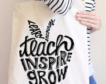 Teacher Tote - Teacher Bag - Teachers Tote Bag