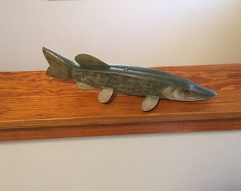 Northern Pike Decorative Decoy - Woodcarving