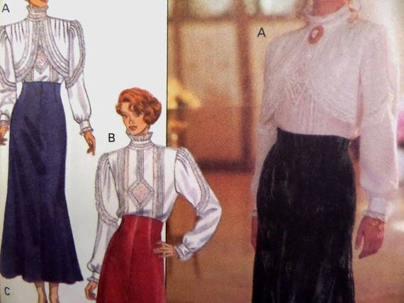 Patrón de blusa victoriana Butterick 3150 • Miss 10-12 • Falda ...