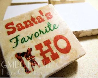 Santa's Favorite HO - Christmas Stone Fetish Magnet