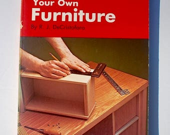 How to Build Your Own Furniture Popular Science Skill Book 1965 vintage DIY woodwork book