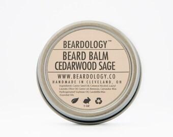Cedarwood Sage -  All Natural Beard Balm  -  1oz.