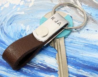 Mini Keychain ,Personalized Mini leather keychain,Mini Leather keyfob,Keychain,minimal keychain,Leather Keychain, Handmade Leather Keychain