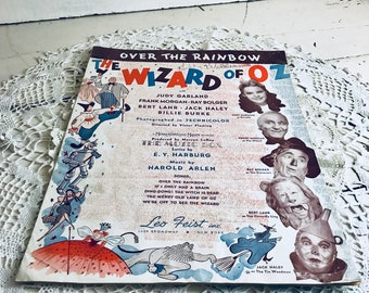 1939 Wizard of Oz Sheet Music Somewhere Over The Rainbow