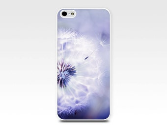 iphone 6 case dandelion iphone case 5s girly iphone case 4s floral iphone case 5 fine art iphone case 4 dandelion case purple lilac pastel
