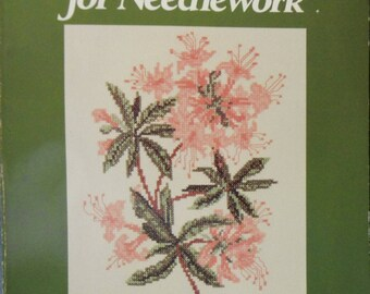 Vintage 1986 Wildflower Designs for Needlework: Charts, Histories, and Watercolors of 29 Wildflowers