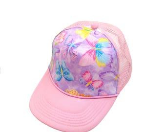 Glitter Butterfly Trucker Hat-Youth Size
