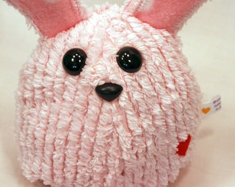 Pink Easter Bunny Rabbit - Whee One - Stuffed Animal - Pink Chenille Stuffed toy - Plushie