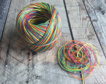 Hemp Cord Rainbow #20 1mm thickness Eco Friendly Biodegradable AZO-Free Dye Oil Free 6 yards