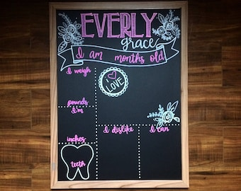 Monthly Milestone Reusable Chalkboard