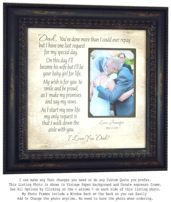Father of the Bride Gift Father Daughter Gift Dad Gifts