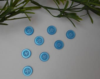 8 buttons Blue 11mm