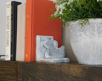 Duck Bookends- Animal Bookends- Wooden Bookends- Rustic Bookends- Farmhouse Bookends-Kid Bookends- Toddler Bookends- Baby Bookends
