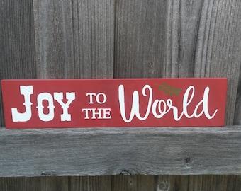 Joy to the World Wood Sign, Christmas Sign, Christmas Decor, Christmas Mantel Decor, Gift, Holiday Decor