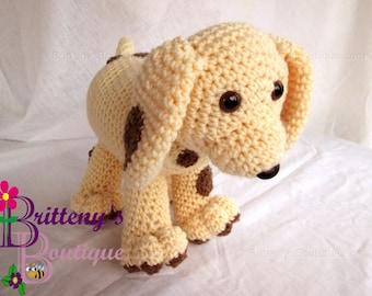 Puppy Dog Stuffed Animal Crochet Plush Puppy Dog Amigurumi Crochet Plush Puppy Dog Cute Puppy Crochet Plush Toy Handmade Birthday Gift