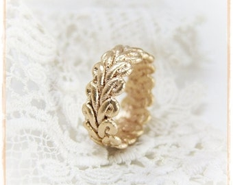 Lace silver ring 1 roségoldplated