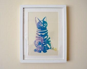 Cat Screen-print