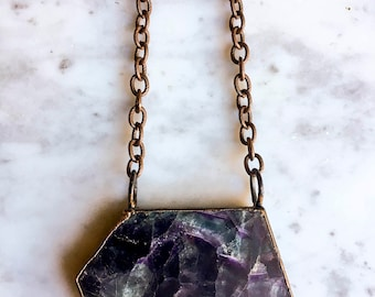 Athena Fluorite Slab Necklace