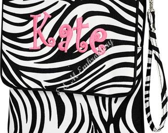 Monogrammed Padded Zebra Tablet ~ Great for Tablet, Ipad, Nook, or Kindle Case