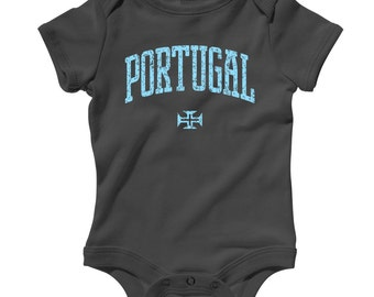 Baby Portugal Romper - Infant One Piece - NB 6m 12m 18m 24m - Portugal Baby - 4 Colors