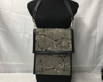 Crossbody /Shoulder Purse -Clip-on wallet inside - 100% Handmade -   Ready to ship