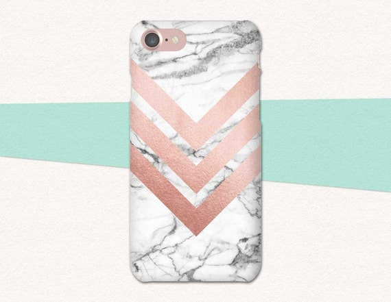 Rose Gold Phone Case Chevron Phone Case Marble Phone Case