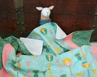 Baby Gifts, Organic Baby Blanket, Girl, Organic Receiving Blanket, Organic Baby Bedding, Baby Shower Gift, Flannel, Baby Girl Gift, Pink