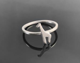 Giraffe ring - Sterling silver giraffe - Giraffe jewelry - Animal ring - Sterling silver animal ring - African animal jewelry