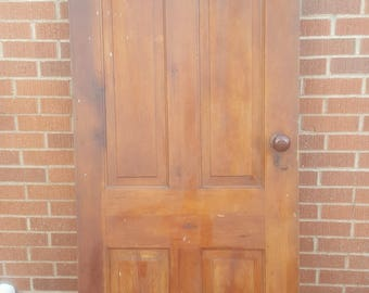Old Wood Door Antique Interior Door Building Supply Architectural Salvage Farmhouse & Old Wood Door Interior Door Building Supply Architectural