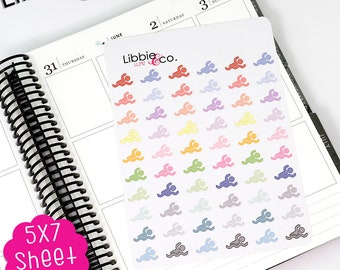 LL242 Libbie's Littles Pale Swimming Stickers, Erin Condren, Happy, Mambi, Plum Paper and Personal Planners!