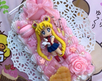 Sailor Moon Pink and White Decoden Case for iPhone 7 PLUS / iPhone 8 PLUS