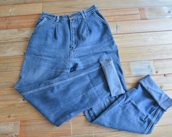 Vintage 70s 80s High Rise Jeans 15 Long by Normandee Rose